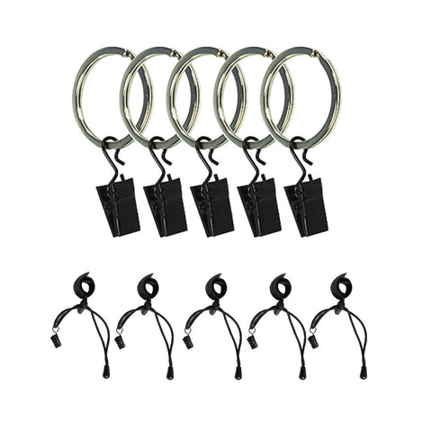 5 Piece Ring Clip Holders with Background Stretch Band for Muslin Fabric Backdrop