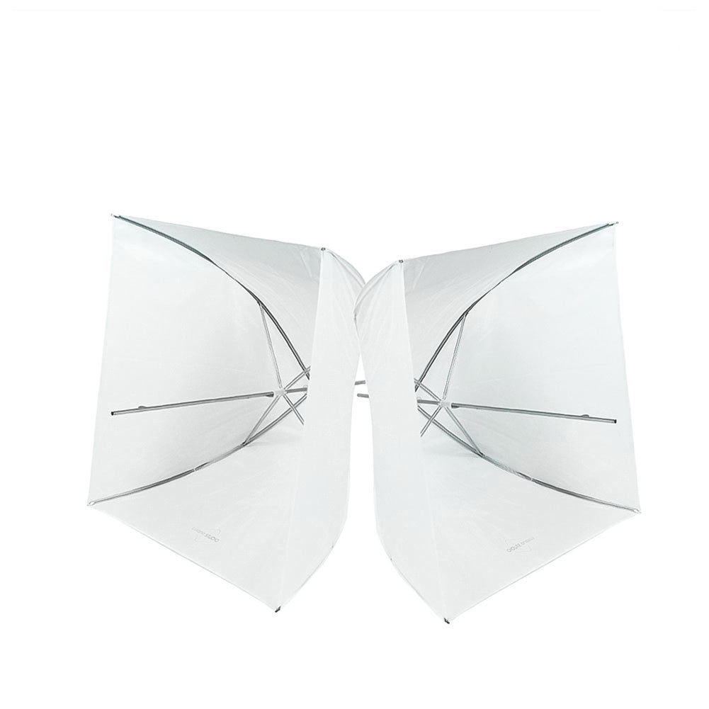 "2 Pack 24"" Pure White/White Diffusion Shoot Thru Umbrella Softbox for Photography Light and Video Lighting"