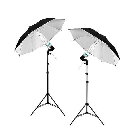 "Twin 32"" Black/White Umbrella Reflector Continuous Lighting Kit for Multi Functional Photography and Video by Loadstone Studio"