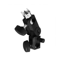 Pro Photography Flash Hot Shoe Umbrella Holder Mount Light Stand Bracket Swivel for All Hotshoe Strobes