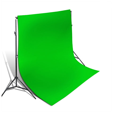 "120"" Heavy Duty Background Support Stand Kit with 10'x20' Green Chromakey Backdrop Muslin Background by Loadstone Studio"
