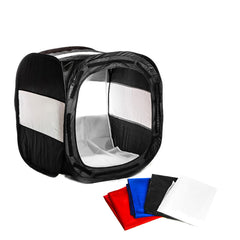 "Black/White 24"" Photo Shooting Tent Light Cube Diffusion Soft Box Kit with 4 Color Backdrops for Photo"