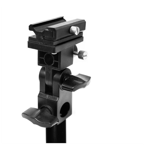 "4.5""  Umbrella Mount Adapter Bracket with Swivel Tilt Head Speedlite Hotshoe Holder Light Stand Photo"