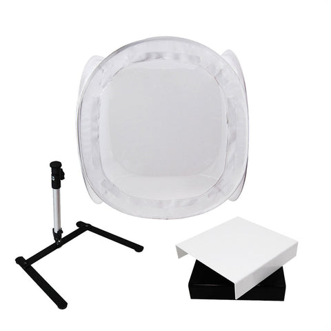 "16"" Portable Collapsible Photo Light Tent Cube Kit, Tabletop Tripod, Shooting Table and Bag"