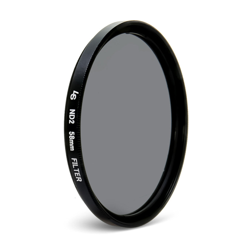 58mm Double Threaded Neutral Density (ND2) Professional Photography Filter for Canon and Nikon Camera Lenses by Loadstone Studio