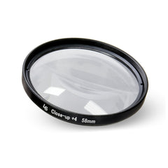 58mm Fixed Macro Close-Up Filter with +4 Diopter and Dual Ended Threading for Canon and Nikon Camera Lenses by Loadstone Studio