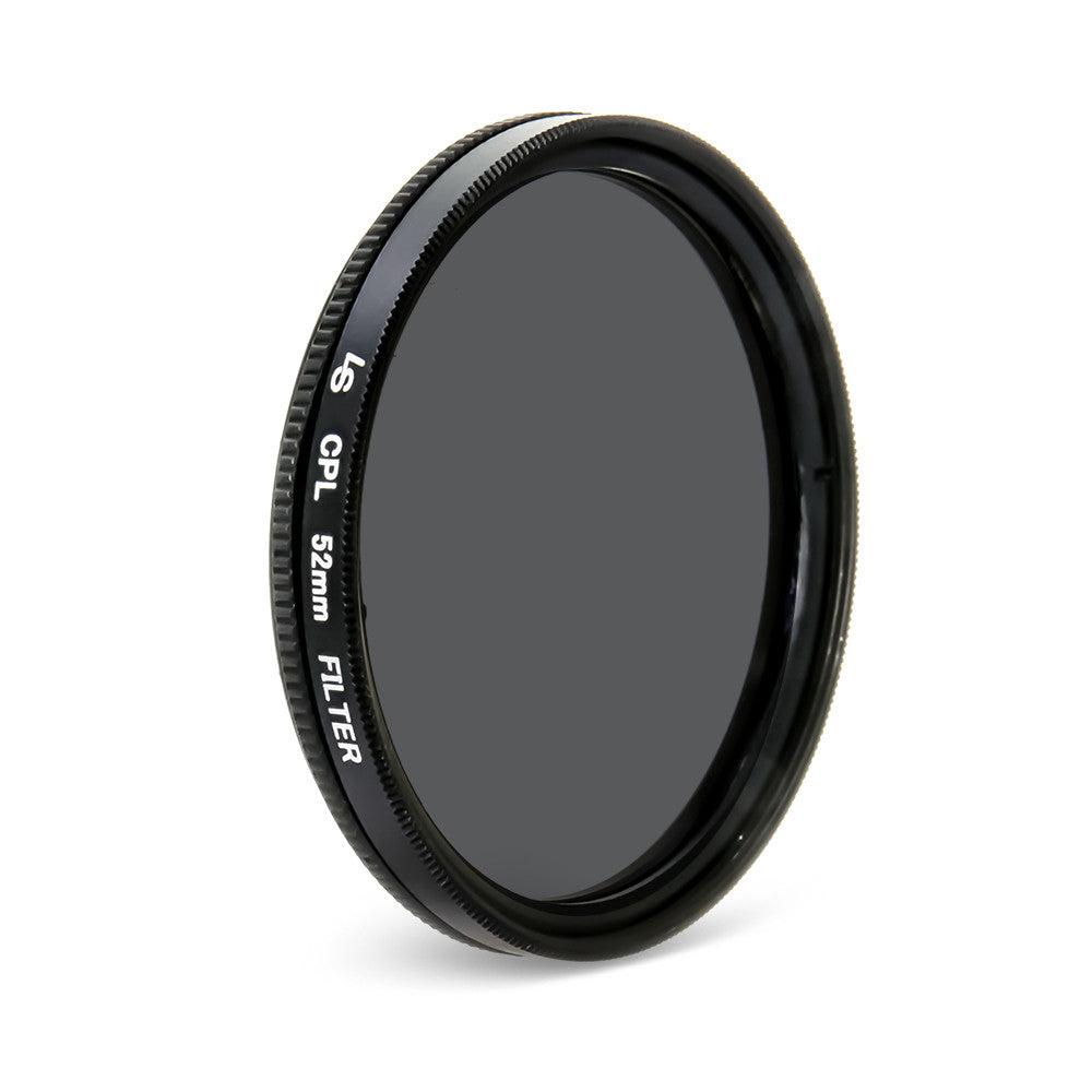 52mm Circular Polarizing CPL Low Profile Slim Design Lens Filter for Canon and Nikon DSLR Camera Lenses by Loadstone Studio