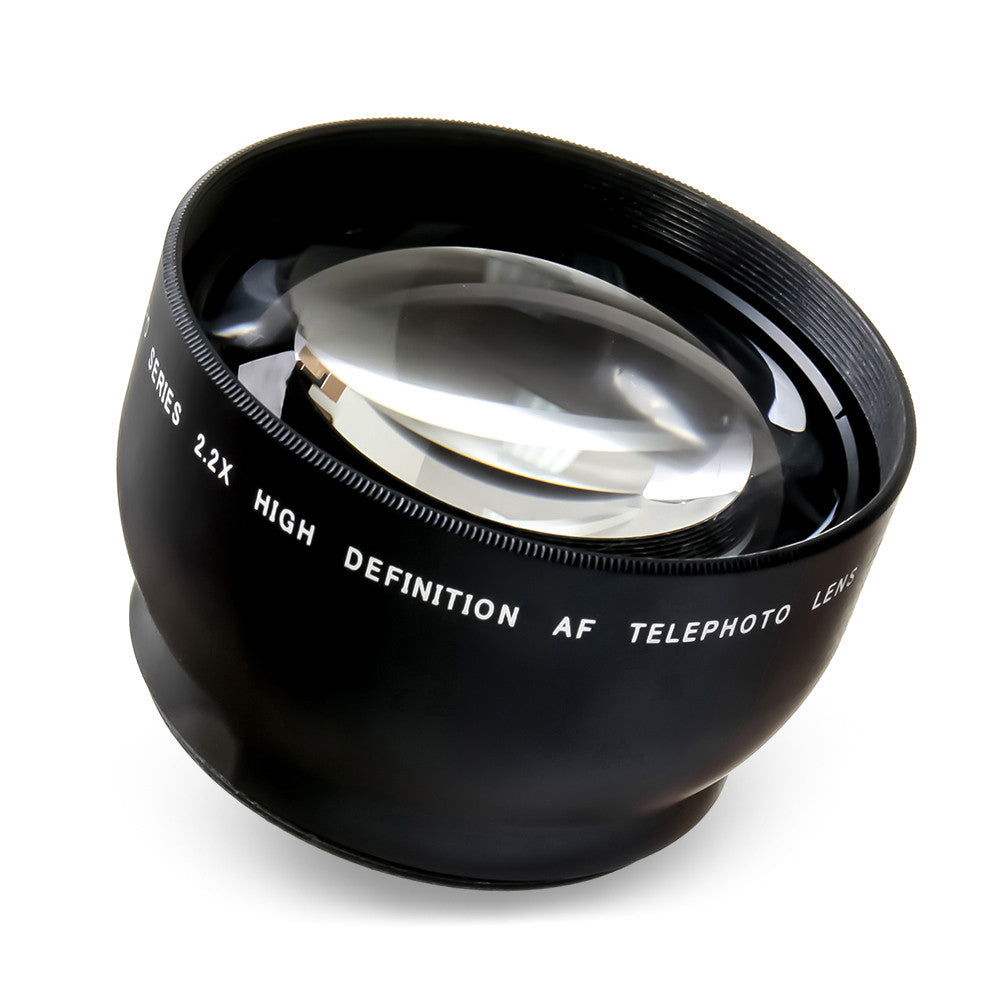 52mm Universal Multi-coated 2.2x Telephoto Lens for Canon and Nikon DSLR Camera Lenses  by Loadstone Studio