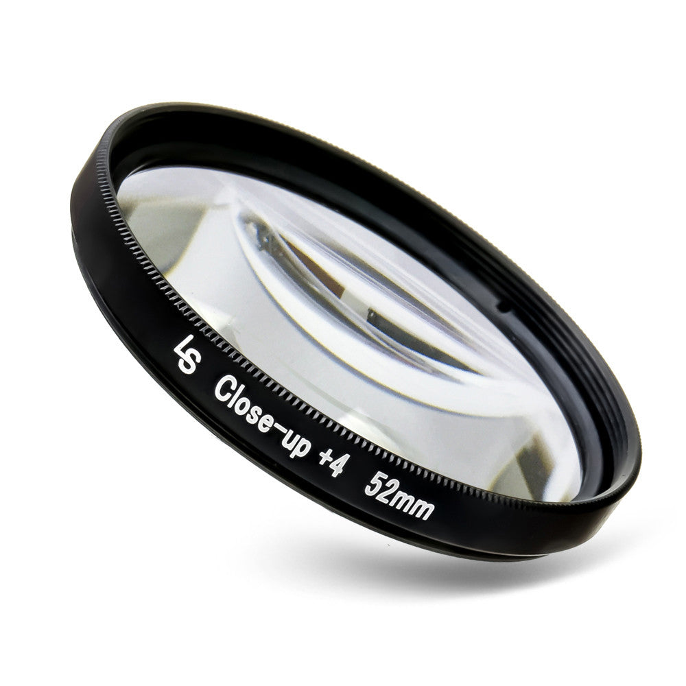 52mm Fixed Macro Close-Up Filter with +4 Diopter and Dual Ended Threading for Canon and Nikon Camera Lenses by Loadstone Studio