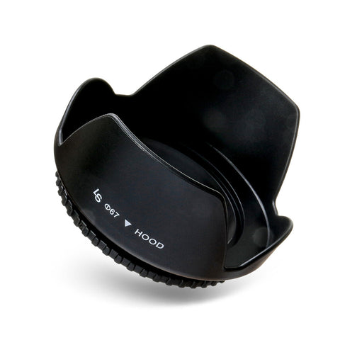 67mm Universal Screw-on Durable Rubber Petal Lens Hood and Protector for Canon and Nikon Camera Lenses by Loadstone Studio