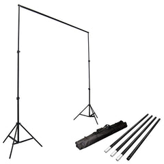 Loadstone Studio Photo Video Studio 10Ft Adjustable Muslin Background Backdrop Support System Stand,