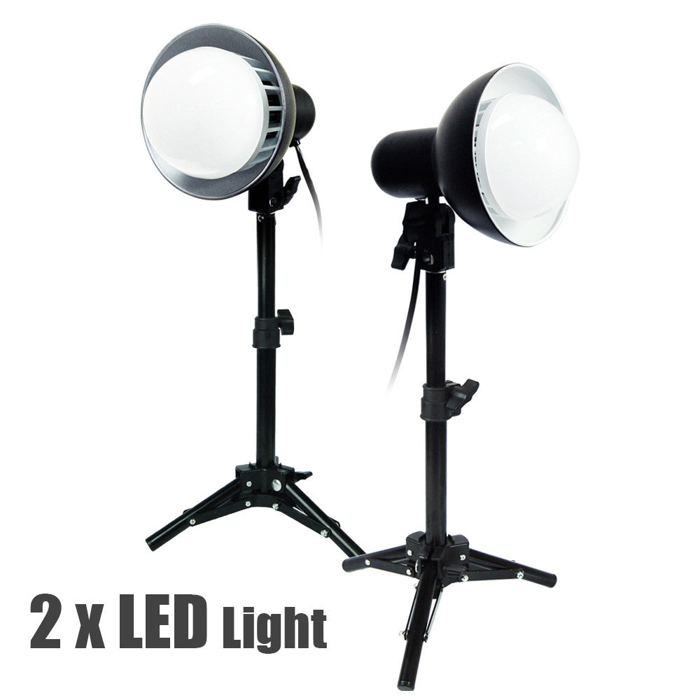Loadstone Studio 2 x 18W LED Photography Table Top Photo Studio Lighting Kit ,