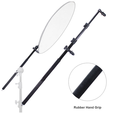 Loadstone Studio Extendable Photo Studio Lighting Reflector Holder Boom Arm with Rubber Hand Grip,