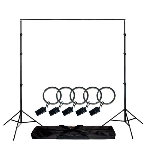 Loadstone Studio Photo Video Studio Background Backdrop Support Stand 5x Backdrop Helper Holders Kit with Bag,