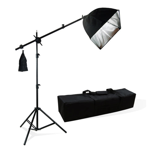 Photography Photo Studio Lighting Kit Softbox Lighting w/ Bulb Socket & Boom Arm Hair Light Kit