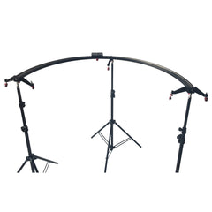 "Loadstone Studio Camera & Camcoder Slider 67"" Long 180 Degree 1/2 Round Circle Dolly Smooth Track for Video & Image Shoot, Photography Studio,"