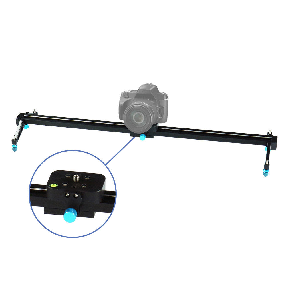 Photography Studio Blue 24 inch Video Stabilization System DSLR Camera Dolly Track Motion Slider