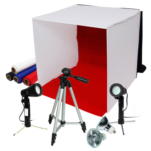 "Loadstone Studio Photography Photo Studio 16"" Table Top Photo Tent 600Lumes LED Lighting Kit with 41"" Camera Tripod,"