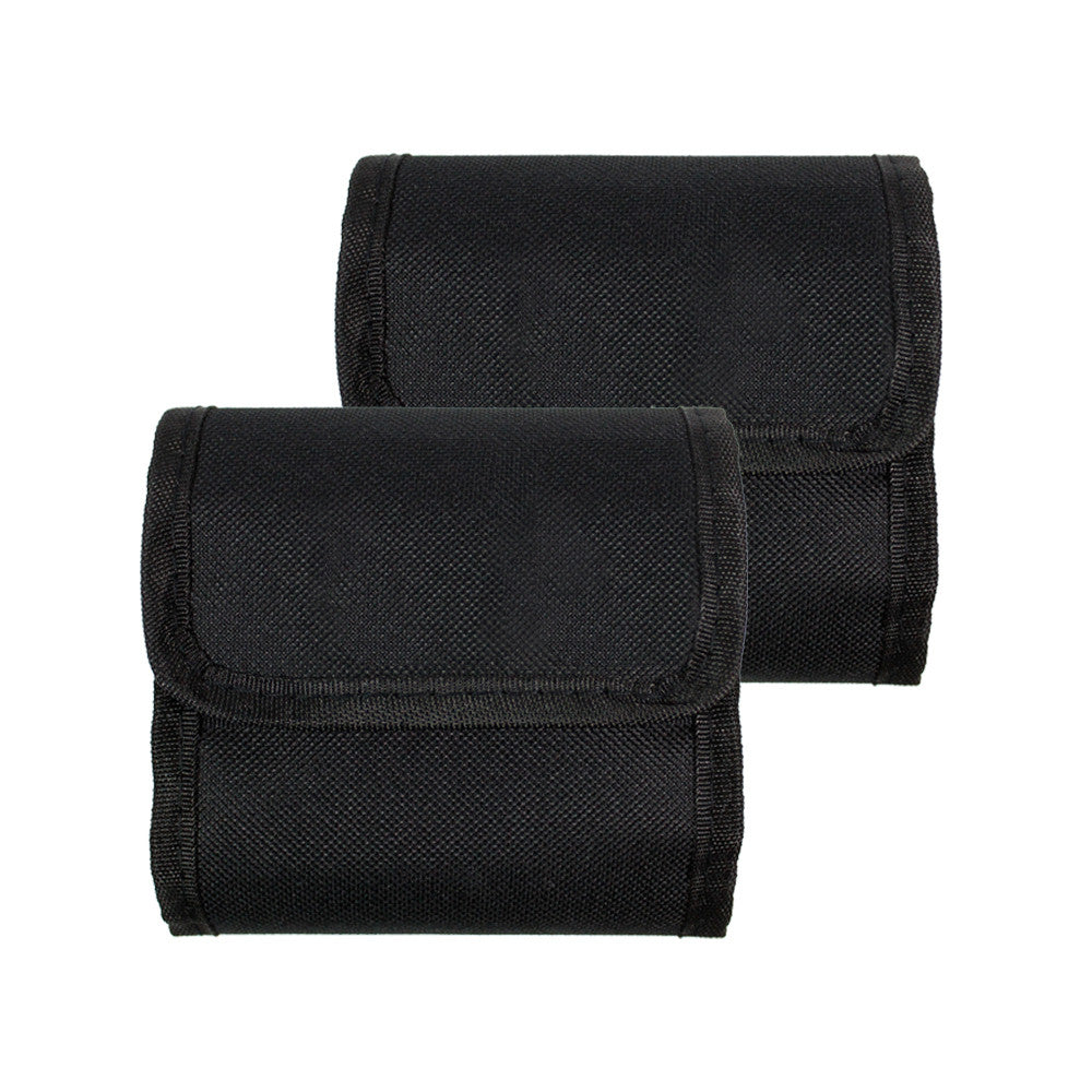 2 pcs x 3 Pocket Camera Lens Filter Case Carry Pouch for Round Circular or Square Filters