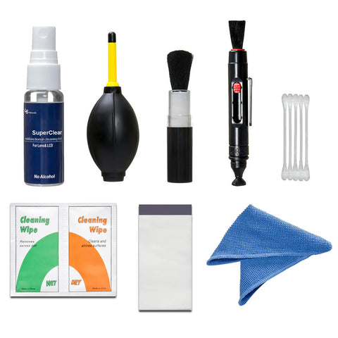 Photo Camera Compressed Air Blower Cleaning Kit Pen Brush Cleaning Set for DSLR Cameras, Lens and Sensitive Electronics