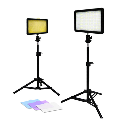 Loadstone Studio 2x New Premium 216 PCS LED Light for Digital Camera/Camcorder Video Table Top Photo Studio Lighting Stand Kit,