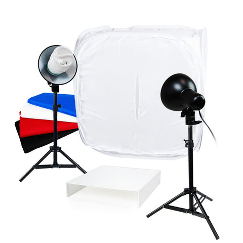 "Loadstone Studio Table Top Photo Studio Light Tent Kit, 24"" Photo Light Box, Continous Lighting Kit,"