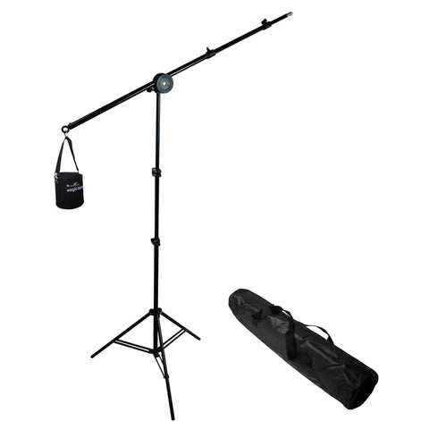 "Photo Video Studio Overhead Hair Boom Light Stand, 86"" Tall and 74.5"" Extended"