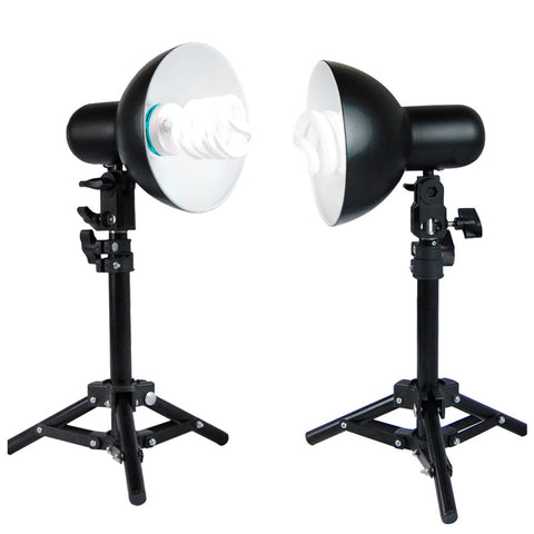 Loadstone Studio 400W Continuous Lighting Stand Kit for Table Top Photography Studio,