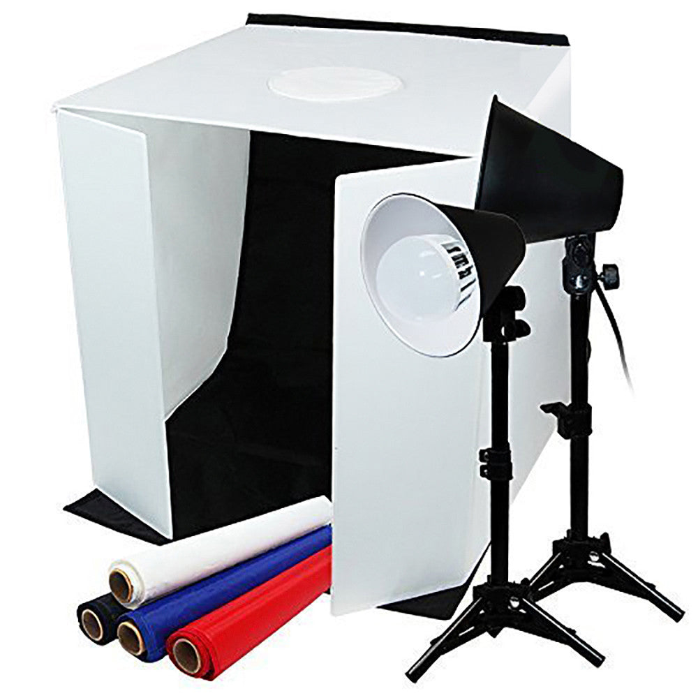 "Loadstone Studio TABLE TOP PHOTO STUDIO 24"" x 24"" SOFT TENT KIT WITH 1200-1300 LUMENS CONTINUOUS LED LIGHTS ,"