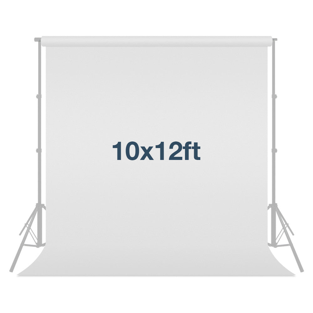 Loadstone Studio 10 ft X 12 ft White Chromakey Photo Video Photography Studio Fabric Backdrop Background Screen,