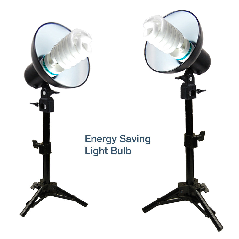 Loadstone Studio 2 Sets 45W Mini Continuous Light Table Top Photo Studio Lighting Kit, Light Bulb, Light Stand, Light Head,