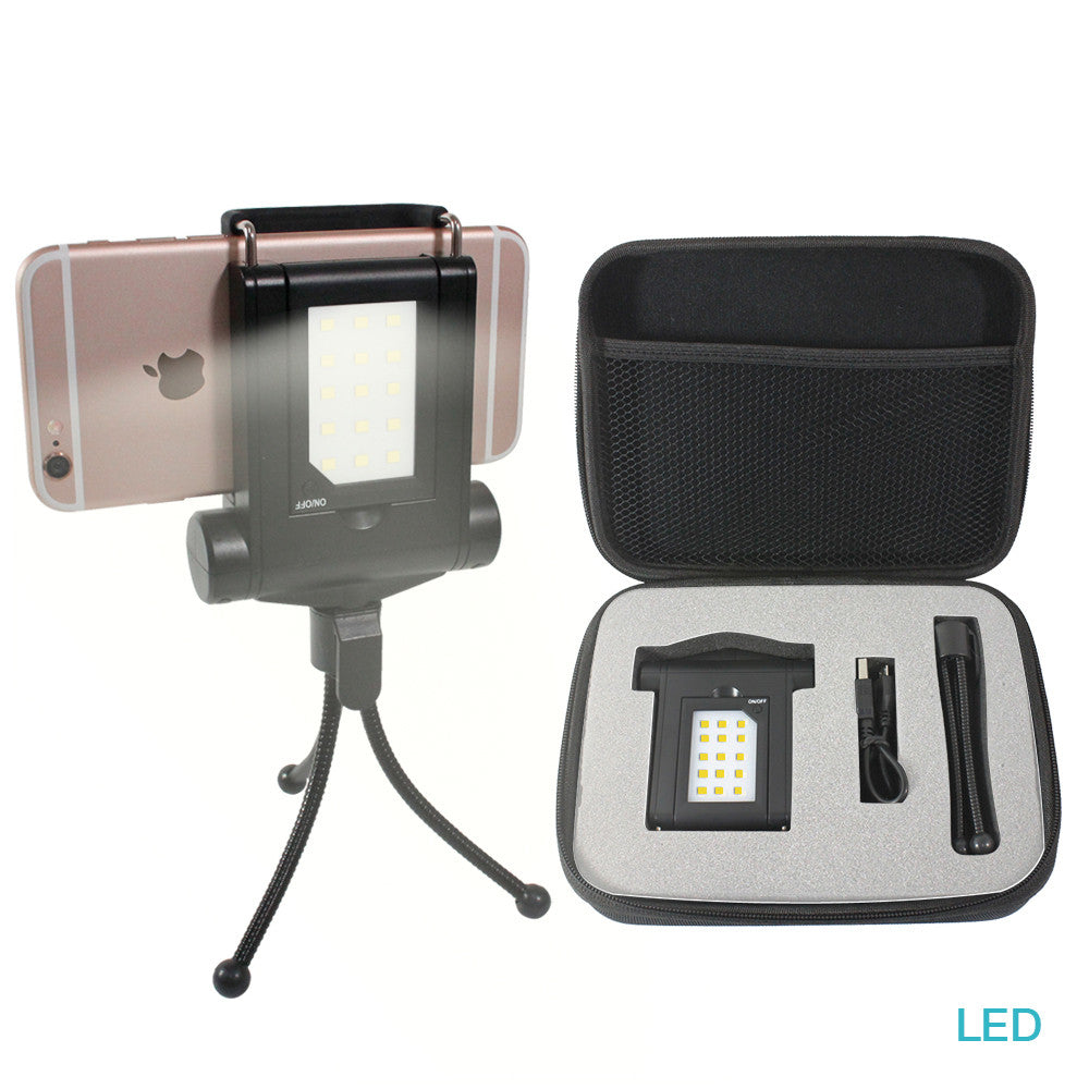 competitive price c8302 4c893 Loadstone Studio Mini LED Fill-In Light Smartphone Led Light With  Adjustable Phone Holder and Travel Portable Tripod For iPhone 6 5s, Samsung  Galaxy ...