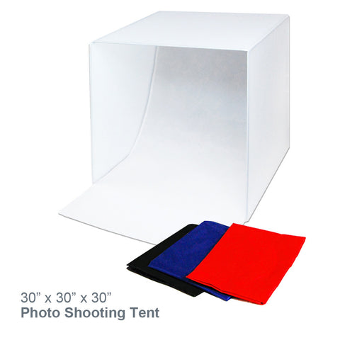 "Loadstone Studio 30"" x 30"" Table Top Photo Studio Light Softbox Tent with Color Background, Studio Light Box / Tent for Commercial Product Image Shooting, Easy to Fold / Install,"