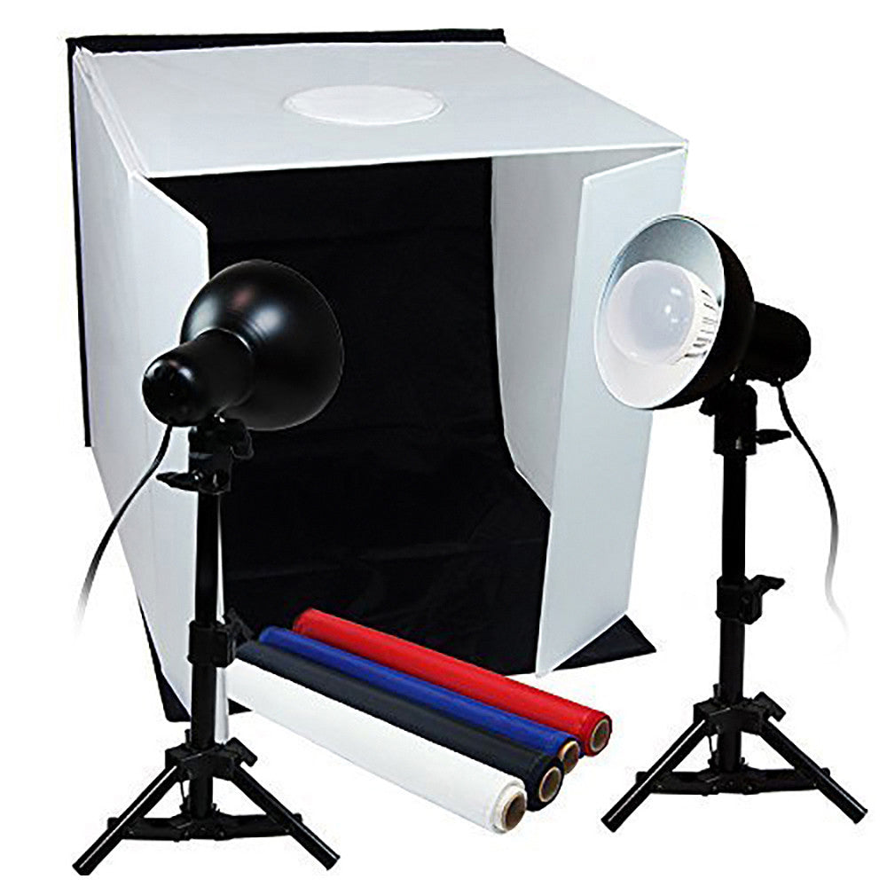 "Loadstone Studio TABLE TOP PHOTO STUDIO 16"" x 16"" SOFT TENT KIT WITH 800-900 LUMENS CONTINUOUS LED LIGHTS ,"