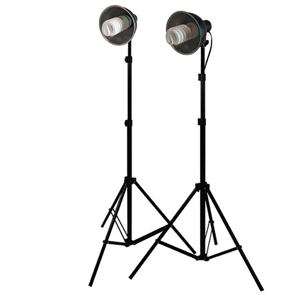Loadstone Studio 400W Photography Studio Continuous Lighting Light Kit Bowl Reflector,