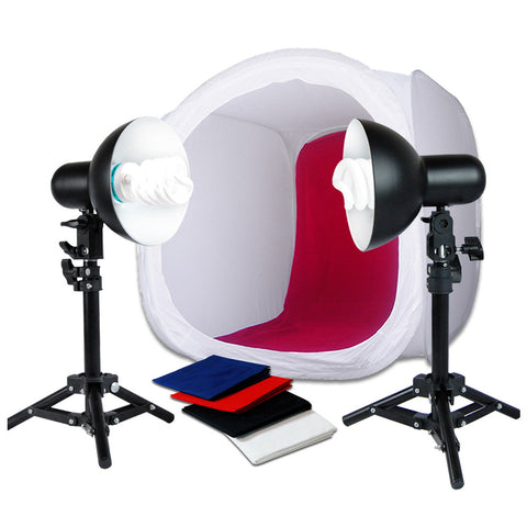 "Loadstone Studio 20"" Photo Shooting Tent 400W Continuous Lighting Stand Kit for Table Top Photography Studio,"