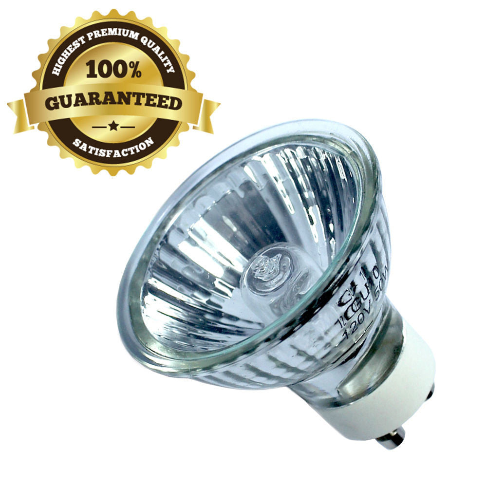 GU10 50W 120V Bulb Halogen Flood Light Bulb Dimmable w/ Cover Glass