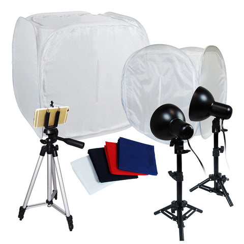 "Table Top Photography 30"" 12"" Photo Tent Studio Kit, Portable Studio Lighting Kit"