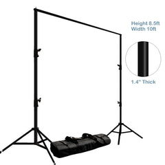 Photo Video Studio Adjustable Muslin Background Backdrop Support System Stand & Cross Bar