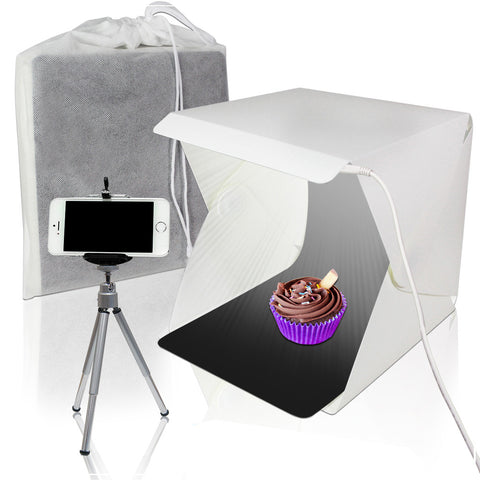Mini Photo Studio Shooting Tent, White, compact