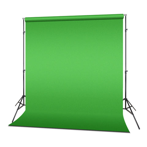Photo Video Photography Studio 6x9ft Green Muslin Backdrop Background Screen with 5x Backdrop Holder Kit