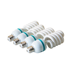 Photo Light Bulb - Pack of 4 - CFL 45 watt - Daylight balanced 6500K - pure white light