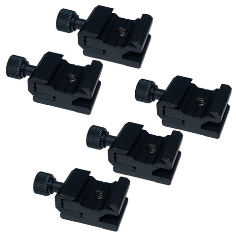 "5Pcs Hot Shoe Flash to Bracket / Stand Mount Adapter Trigger with 1/4"" Female Thread"