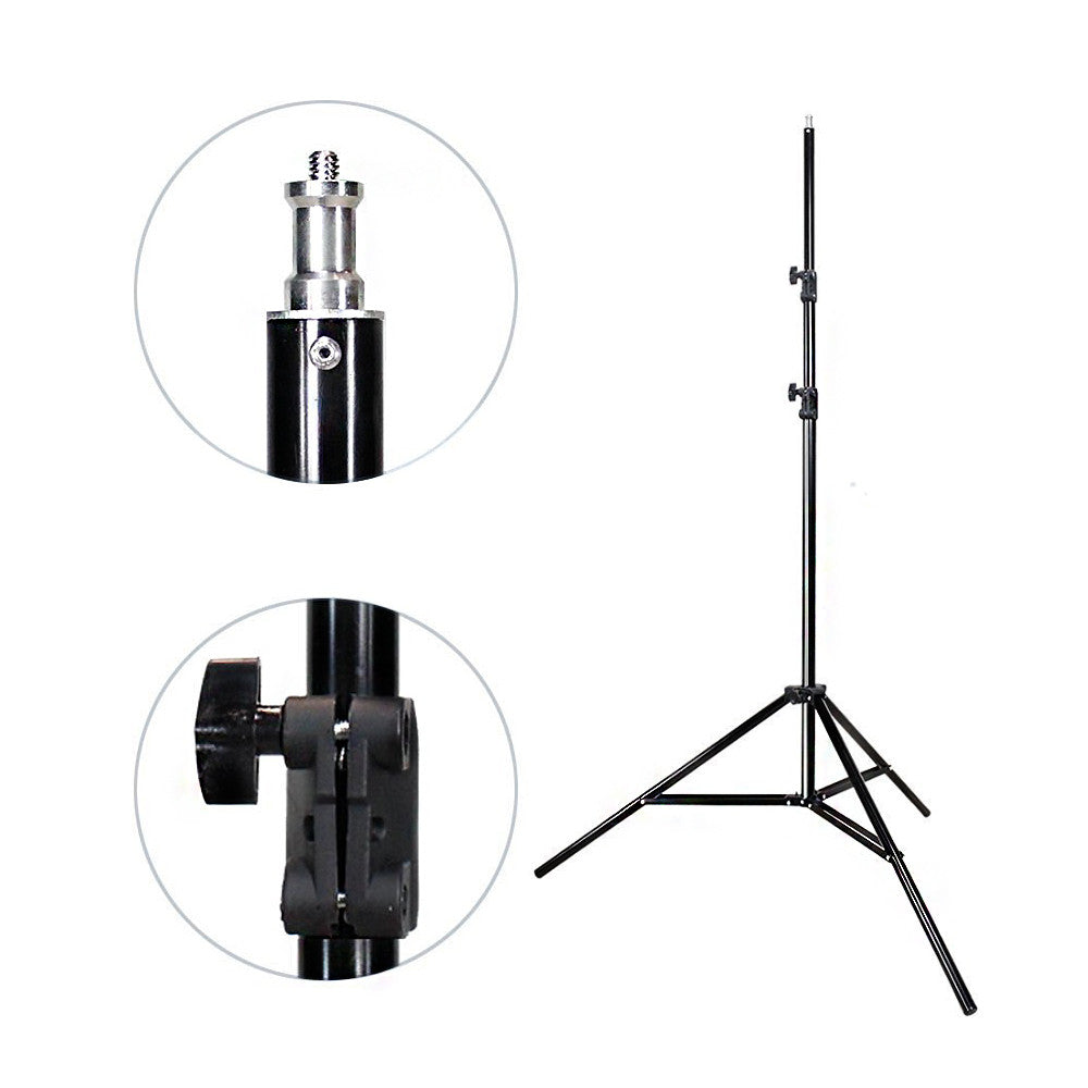 Photography Studio Photo Video Continuous Umbrella Light Lighting Kit with Chromakey Green Screen Photo Background Backdrop Support System