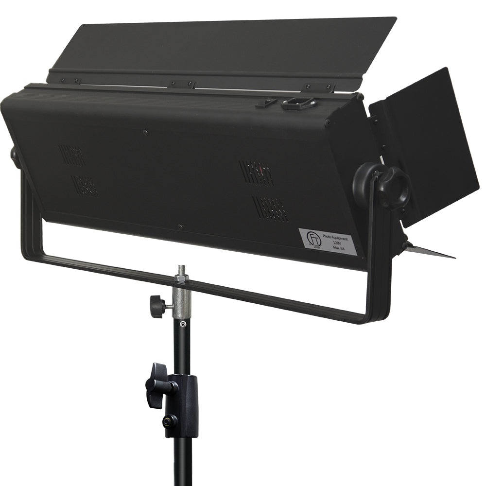 Led Double Lighting Tube Panel With Barn Door For Photography And