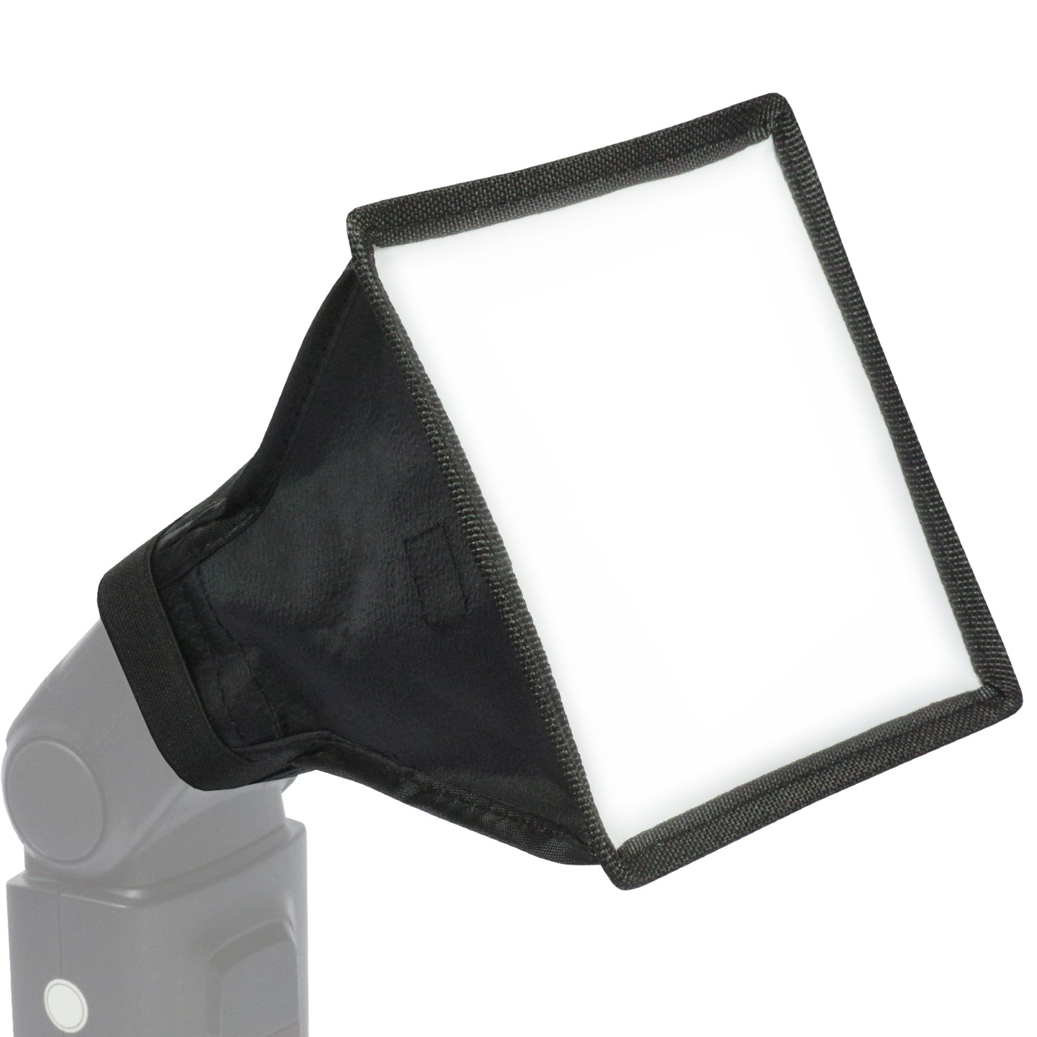 Loadstone Studio Photography 6 x 7 inch Dimension Foldable Mini Softbox Light Diffuser Cover, 2 Shape Fan Shape and Rectangle, LED Light Panel & Flash Light with Velcro, Two-Sided Reversible, WMLS4537