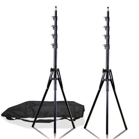 Loadstone Studio 2PCS Max 94 inch Photography Lighting Stands Professional Studio Light Stand 4-Section for Photo Studio Reflector, Softbox, Light, Umbrella, Background, WMLS4543