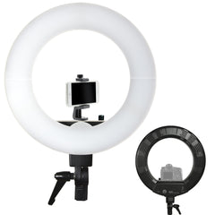Loadstone Studio 18 inch Diameter Continuous Round Ring Light, Dimmer Control Lighting Kit with Clip Cell Phone Holder Photo and Video Shoots, WMLS4580