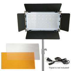 Loadstone Studio 2 Sets of Adjustable LED Barn Door Light Panels with Selectable Lighting Zone, Dimmable Color Temperature Control with Color Gel Filters, Professional Photo Video Shoots, WMLS4638
