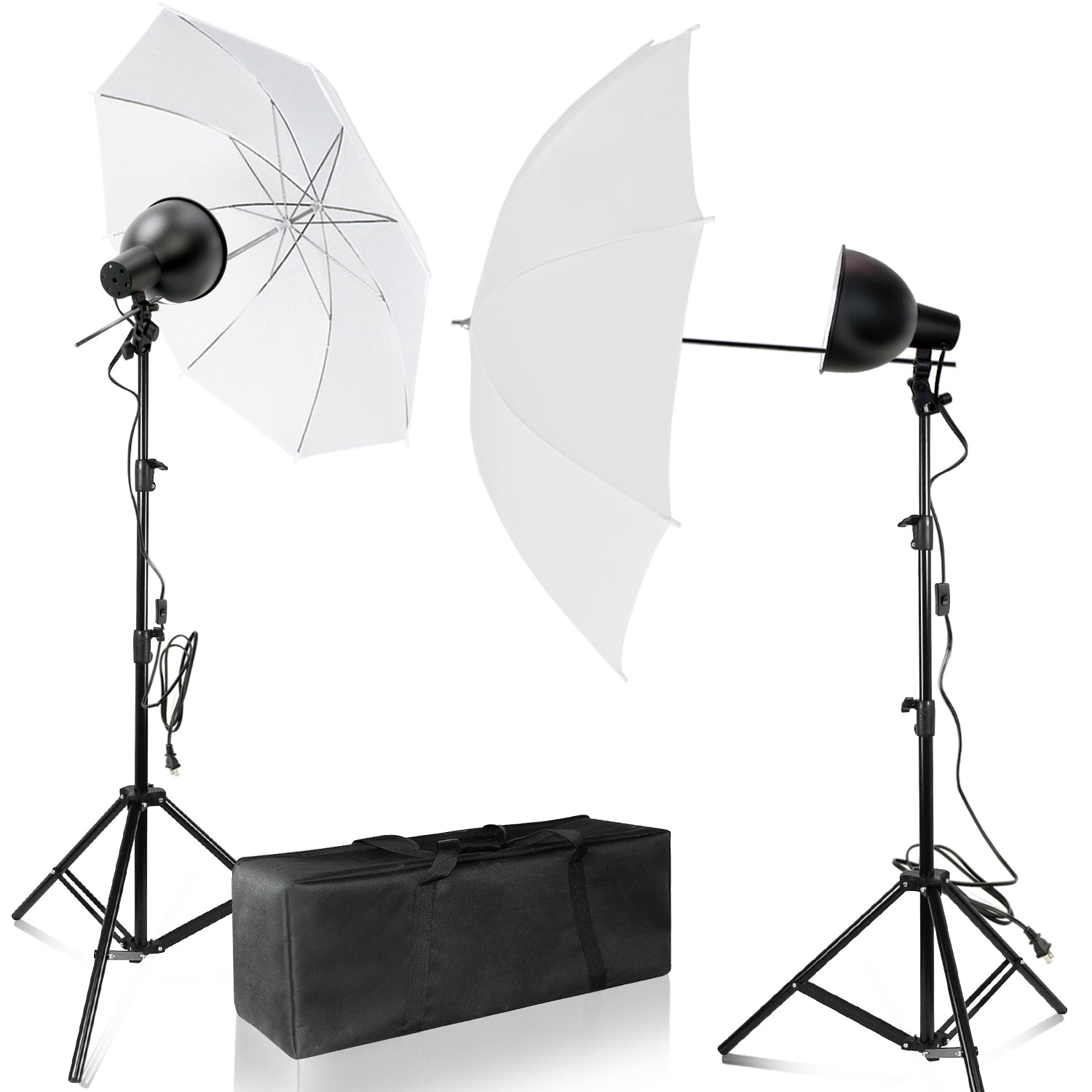 "Loadstone Studio Day Light Continuous Lighting Kit/7.5""  Reflector Dish with 20 W LED LIGHT, Light Stand Tripod, 43"" White Umbrella and Carry Bag, WMLS4659"